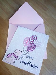 """Happy birthday card!! Timbri e fustelle """"La coppia creativa""""."""