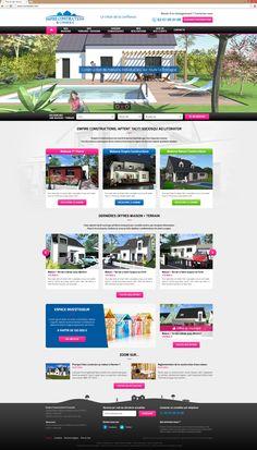 Lancement du Site Empire Constructions | Acreat Web Technologies Web Technology, Empire, Construction, Rocket Launch, Building