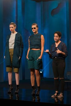 Samantha talks about two looks from her collection on Project Runway Junior.