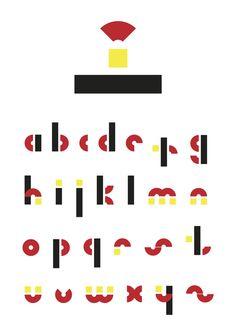 ründstük modul-font by fedor sorokin, via Behance