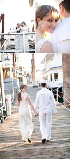 Vintage sailor nautical wedding inspiration by Tamara J Events and Heather Prettyman Photography!