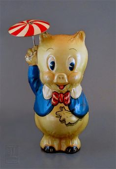 1930s PORKY PIG tin wind-up by Marx toys by LUNZERLAND., via Flickr