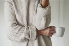 Sweater: cozy, oversized sweater, tumblr, white, comfy - Wheretoget