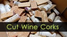 How to rapidly and safely cut wine corks for your DIY projects. By cutting the corks in half you can double the amount of usable corks and they are easier to glue on surfaces.
