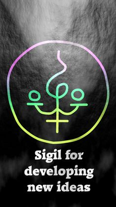 Sigil for developing new ideas Magic Symbols, Symbols And Meanings, Ancient Symbols, Viking Symbols, Egyptian Symbols, Viking Runes, Magick Spells, Witchcraft, Alchemy