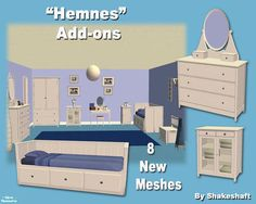 http://www.thesimsresource.com/artists/Shakeshaft/downloads/details/category/sims2-sets-rooms-masterbedrooms/title/Hemnes Add-ons/id/801505/