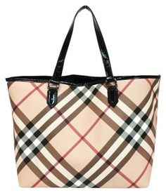3fde2afe95aa Burberry Nickie North South Tote in Nova Check North South
