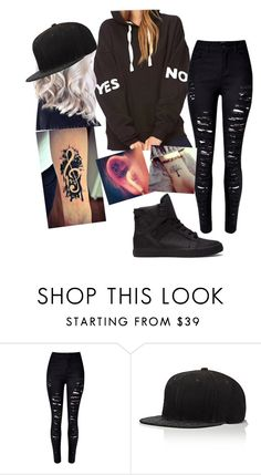 """""""Yes or No?"""" by brenna-perrie-mitchell ❤ liked on Polyvore featuring WithChic and JUST DON"""