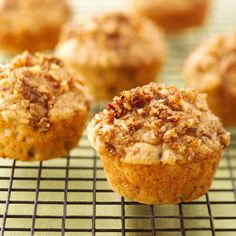 Have a healthy breakfast with a low-calorie, low-fat apple-streusel muffin recipe.