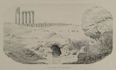 The Spring of Callirrhoe at Ilissus. In the background the Temple of Olympian Zeus. Southern Italy, Acropolis, Athens Greece, Olympians, Mount Rushmore, Temple, The Neighbourhood, Asia, Europe