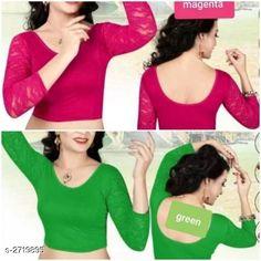 Blouses Unique Designer Cotton Spandex Blouses ( Pack Of 2 ) Fabric: Cotton Spandex Sleeves: Sleeves Are Included Type: Stitched Description: It Has 2 Piece Of Women's Blouse Pattern: Solid Sizes: 36 (Bust Size - 36 in  Length Size - 15 in) 38 (Bust Size - 38 in  Length Size - 15 in) 40 (Bust Size - 40 in  Length Size - 15 in) Country of Origin: India Sizes Available: 36, 38, 40   Catalog Rating: ★4.2 (488)  Catalog Name: Siya Unique Designer Cotton Spandex Readymade Blouse Combo Vol 18 CatalogID_368585 C74-SC1007 Code: 714-2719895-