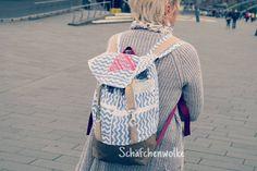 "Rucksack ""Pakke"" genäht von Schäfchenwolke: http://www.kreativlaborberlin.de/schnittmuster/rucksack-pakke/"