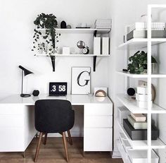 Scandinavian styled home office