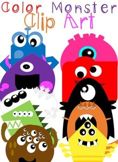 Fun, Clean and Easy to incorporate Monster Clip Art! Rather decorating bulletin boards or looking for something to brighten up color flashcards, these 10 Monsters come in PNG format with transparent background. What a ROAR'SOME product!!