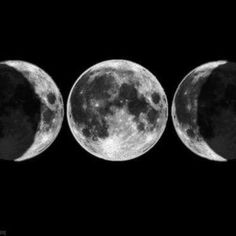Triple Moon - the Maiden, the Mother and the Crone...beginning passion and ideas, fertility and love, knowledge and wisdom.