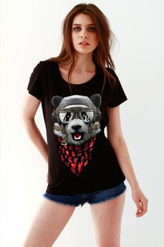 #sekizcom #woman #girl #tshirt #shopping #gri #tasarım #design #baski #fashion #clothing #sweatshirt #uzunkollu #black #vecii #panda