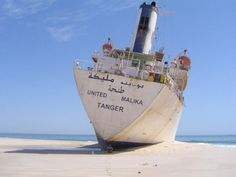 Shipwreck of the United Malika, shore of Nouadhibou, Mauritania