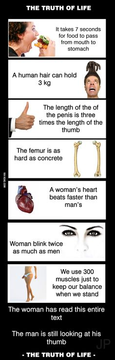 Truth of life ....(and the difference between women and men!)