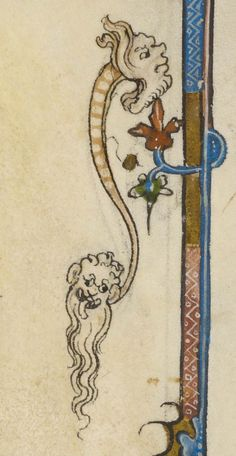 Hybrid animal with body of serpent and head at each end | Literary | ca. 1350 | The Morgan Library & Museum