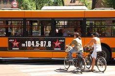 Kaos Agency - pubblicità su bus urbani - dinamica classica