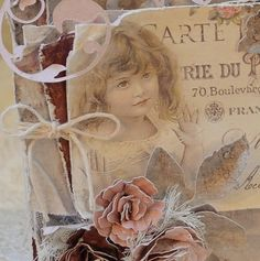 Tattered Treasures: 'Raindrops on Roses' Valentine Card with Maja Papers