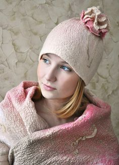 felted hat and clothing