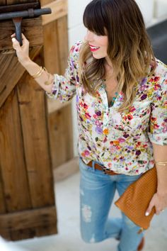 Florals are good! I don't like tucking in shirts, though, so hem length is important. I'm short waisted, and I always shoot for something that'll hit the flare of my hips.