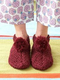Phentex - Fun Family Slippers | Yarn | Free Knitting Patterns | Crochet Patterns | Yarnspirations
