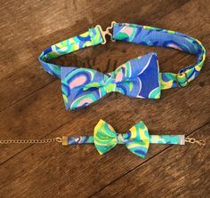 His & Her Lilly Pulitzer Bow Tie and Bow Bracelet Set by ASouthernBowtique on Etsy https://www.etsy.com/listing/239220942/his-her-lilly-pulitzer-bow-tie-and-bow