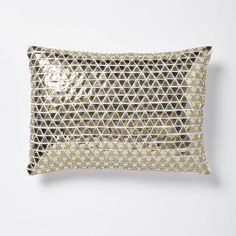 Triangle Sequins Pillow Cover - Gold/Silver | West Elm