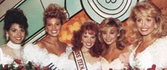 Actress Jessica Collins (2nd from right) was 1st runner up in the 1988 Miss Teen USA pageant representing New York. She is currently appearing in the role of Avery on The Young and the Restless.