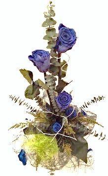 diseño y arte floral, con flores preservadas