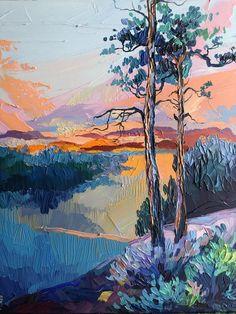Landscape Art, Landscape Paintings, Landscapes, Pretty Art, Aesthetic Art, Cool Artwork, Canvas Art, Acrylic Canvas, Photo Canvas