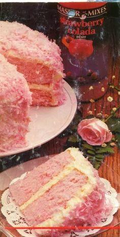 Strawberry Colada Coconut Cake
