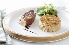 La cocina francesa: recetas y noticas de la gastronomía de Francia: Foie gras y crumble de manzana (Foie gras poêlé et crumble de pommes)