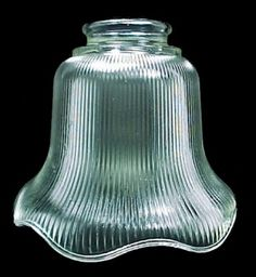 pale amber ribbed bell light shade. ideal for ceiling fan