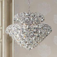 Vienna Full Spectrum Inez Wide Clear Crystal Pendant- Best Room Decorations for Your Home Antique Brass Chandelier, Pink Chandelier, Chandelier Lighting Fixtures, Antler Chandelier, Ceiling Chandelier, Pendant Lighting, Light Fixtures, Ceiling Lights, Country Chandelier