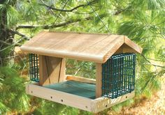 Special Offers - Gold Crest Plantation Bird Feeder with 2 Suet Baskets Large - In stock & Free Shipping. You can save more money! Check It (April 02 2016 at 08:40AM) >> http://birdhouseusa.net/gold-crest-plantation-bird-feeder-with-2-suet-baskets-large/