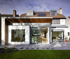 House Extension & Remodel, Dartry, Dublin 6. contemporary-exterior  Like modern window 'box' but wouldn't have extra space above. Portico would come straight off window area.
