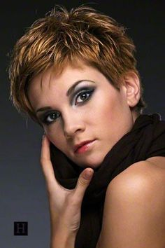 SHORT SPIKEY HAIRCUTS FOR WOMEN OVER 50   Short & Spiky For 50+