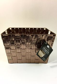Shiny bronze deep baskets (set of 2)