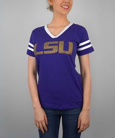 LSU Tigers V-Neck Tee