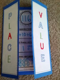 Place Value Foldable...one of WEEKS worth of differentiated guided math rotations for place value!! $4.00 guided math, place value centers, guid math, math centers, math rotations, place value foldable, foldables for place value