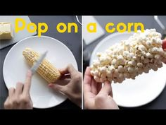 How to make Popcorn - Pop on a corn - YouTube