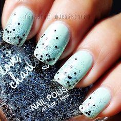 Instagram photo by @jessbent0n via ink361.com Mint Nail Art, Mint Nails, Silver Glitter, Mint Green, Nailart, Instagram