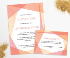 Cut & Paste invitation by OnThreeEventDesign on Etsy