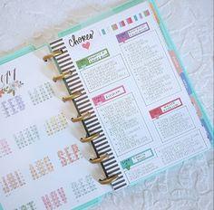 MINI Happy Planner chores to do list