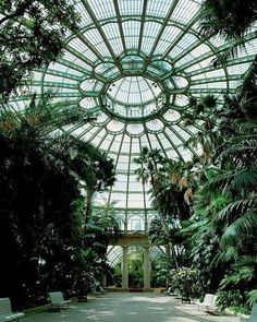 """Landscape Gardeners Are Like Outside Decorators! Victorian Greenhouses - the dome of the Royal Greenhouse of Laeken, Brussels.…"""" - the gothic victorian style. Victorian Greenhouses, Victorian Conservatory, Conservatory Garden, Slytherin Aesthetic, Glass House, Interior And Exterior, Palace Interior, Kitchen Interior, Interior Design"""