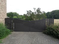 Draaipoort met vast hekwerk Cottage in aluminium   Metallooks