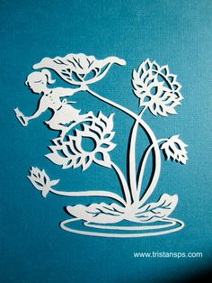 Part of the art 'Message in a bottle' #papercutting #papercutart #tristanspaperstories #papercraft #paper #girl #lily #flower #art